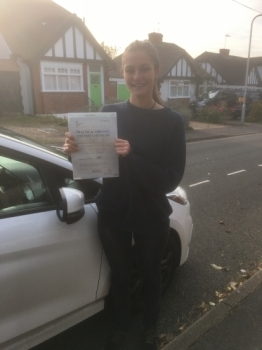 A Fantastic 1st time Pass for Isabella. Congratulations. I will miss my Spanish Lessons. Its been a pleasure working with you Isabella. Enjoy your freedom....